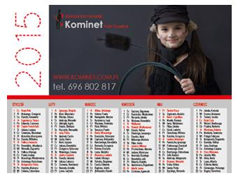Kalendarz 2015 dla ZK Kominet