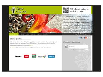 Arty-Ogrody.pl – strona internetowa