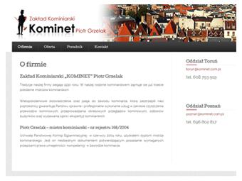 Kominet.com.pl – strona internetowa